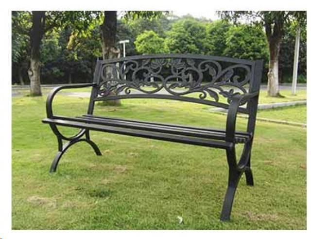 Where to find Scroll Back Black Bench in Auburn