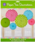 Rental store for Polka Dot Multi 6pk Fan Decor in Auburn IN