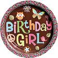 Where to rent 8ct 9  Hippie Chick Bday Plate in Auburn IN