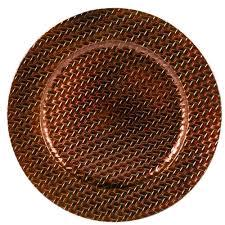 Where to find 13 rd Woven Bronze Charger in Auburn