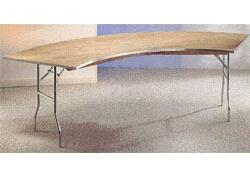 Where to find 4  Serpentine Wood Table in Auburn