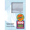 Where to rent 100ct Clear Plastic Fork Big Pack in Auburn IN