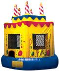 Rental store for Cake Balloons Spacewalk Bouncer in Auburn IN