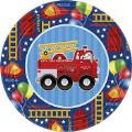 Where to rent 8ct 9  Fire Engine Fun Party Plates in Auburn IN