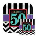 Where to rent 16ct 50th Celebration Beverage Napkins in Auburn IN