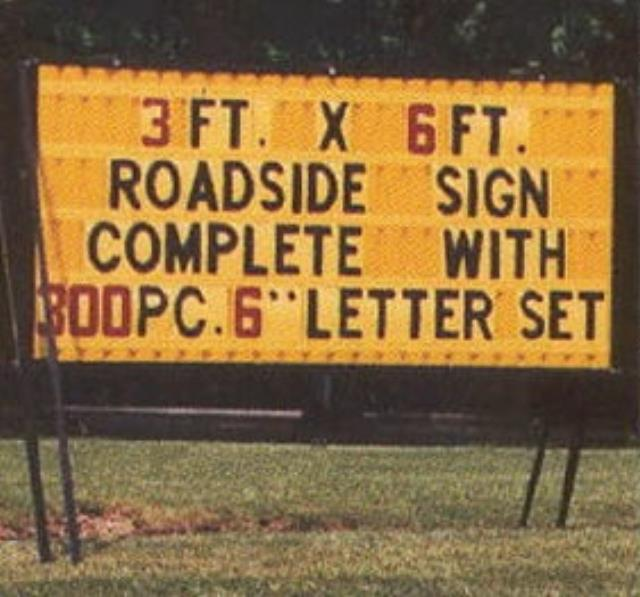 Where to find SIGN, PORTABLE 3X6 5.5  high in Auburn