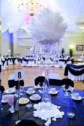 Rental store for 16 rd White Rose Feather Ball in Auburn IN