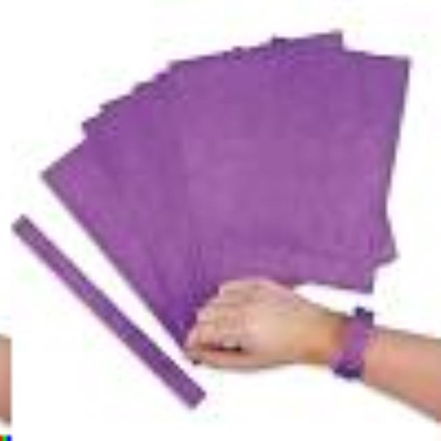 Where to find 50CT PURPLE PAPER WRISTBAND in Auburn