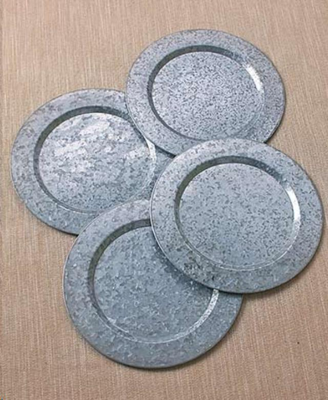 Where to find 14 round galvanized tin charger plate in Auburn