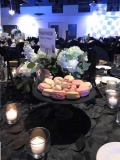 Rental store for MATTE BLACK GLASS CAKE STAND 10  ROUND in Auburn IN